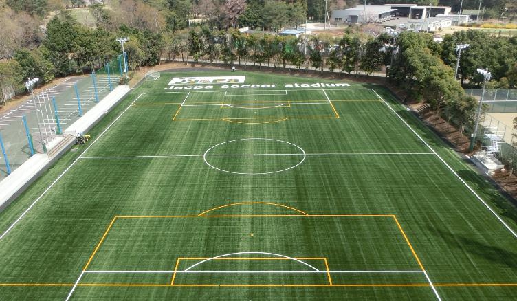 緑豊かなスポーツフィールドでxスポーツの発展にも寄与